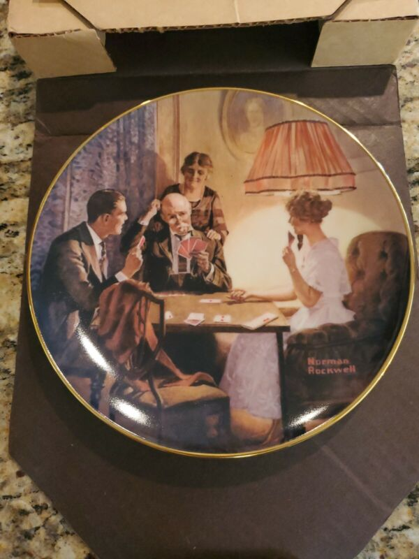"""Edwin M.Knowles Fine China.""""This is the room that light made"""" By Norman Rockwell"""