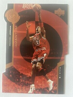 🏀🔥MICHAEL JORDAN 1999 Upper Deck Super Powers QUANTUM DIE CUT # 0111/1000 Rare