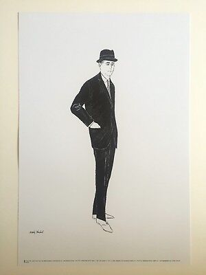 "ANDY WARHOL FINE ART LITHOGRAPH POP ART PRINT "" MALE FASHION FIGURE "" 1960"
