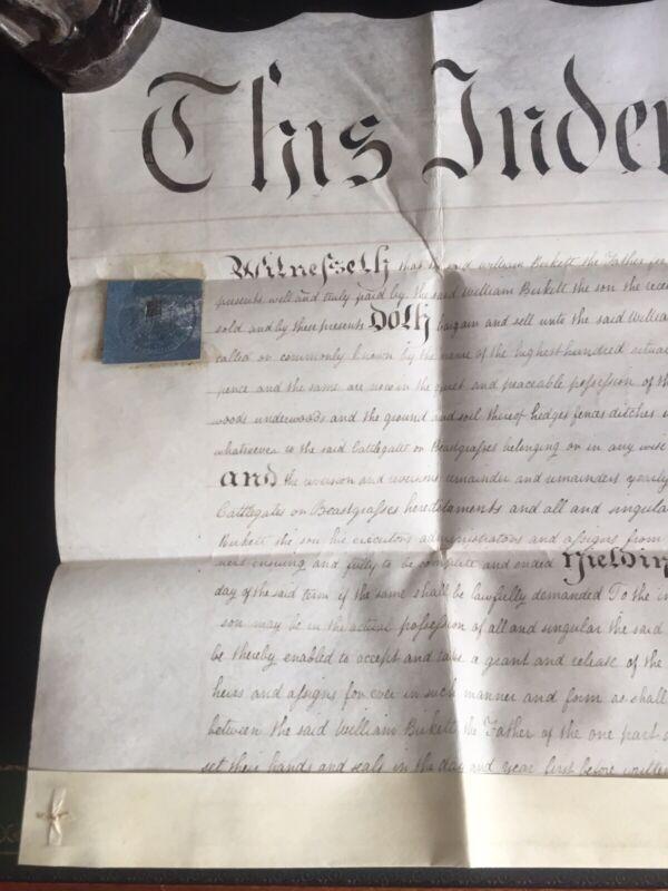 Antique English Vellum Indenture 1818