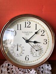 Sterling & Noble Wall Clock Mfg. No. 9 w/Temp. & Humidity