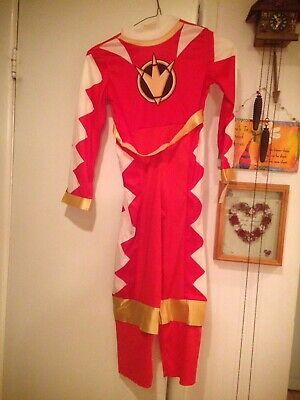 Power Ranger Red Trassic Dino Thunder Costume w Accessories Size 7-10 Rare New - Power Rangers Costume Accessories