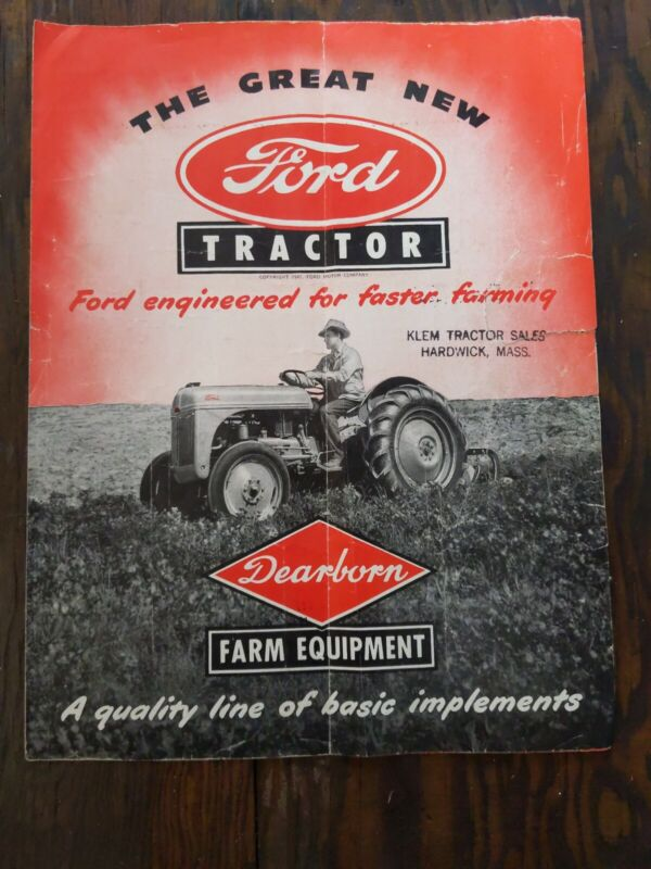 1947 Vintage antique Ford Tractor Advertising Brochure
