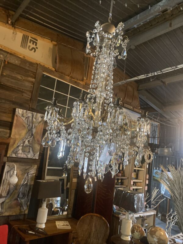Early 19th century Crytal Chandelier/Candelier From Louisiana Plantation