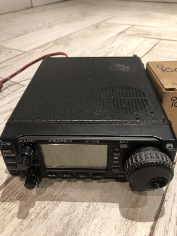 ICOM IC-703 Hf TRANSCEIVER/ Mb-62 Bracklet