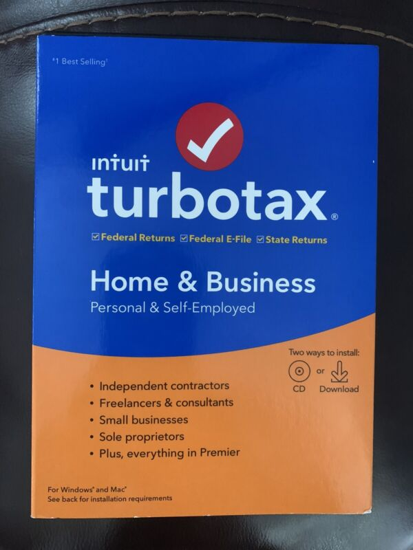 TurboTax Home & Business CD + State 2019