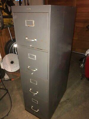 Vintage Cole Steel Five Drawer Legal Size File Cabinet