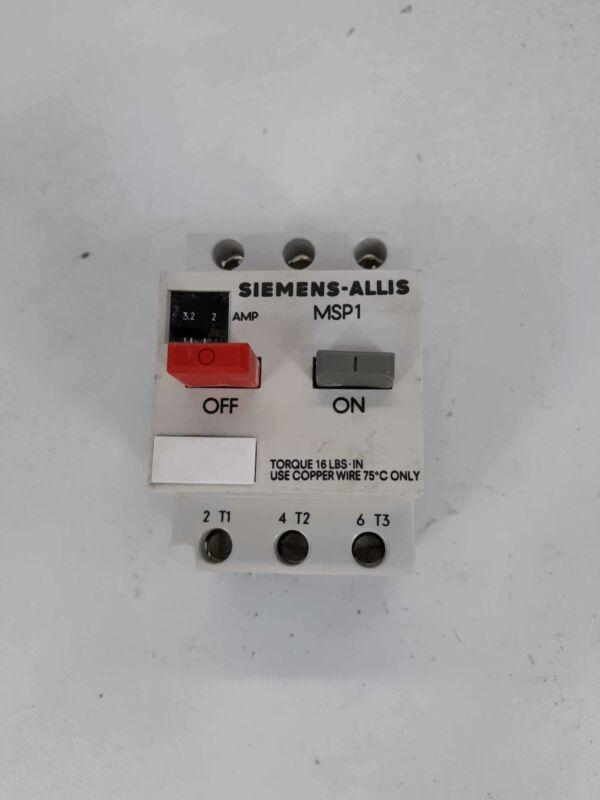 SIEMENS MSP10H Motor Starter Protector 2.0-3.2A