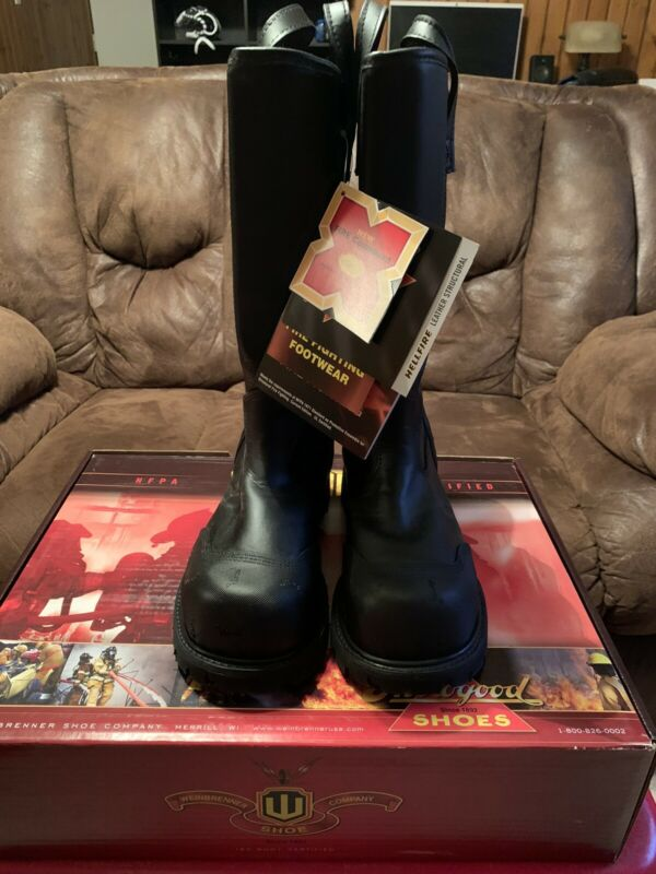 Thorogood Mens Leather Structural Firefighting Bunker Boot. New with Box.