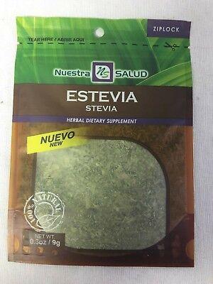 Stevia Dried Estevia Herb .3 Oz. Zip-Lock Type Bag