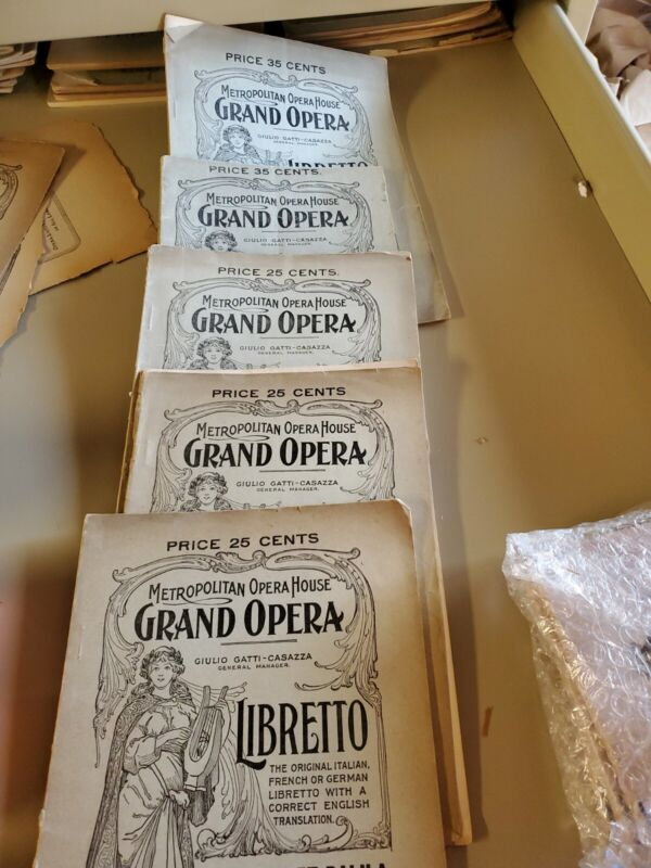 5 Metropolitan Opera Libretti, Fred Rullman Barber, Samson, Goudunov  etc.