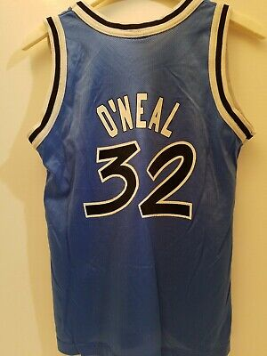 Vintage Shaquille O'Neal ORLANDO MAGIC CHAMPION NBA Jersey YOUTH MEDIUM