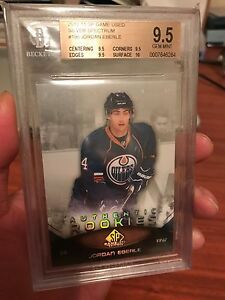 Jordan Eberle SP Game Used Rookie Spectrum Oilers