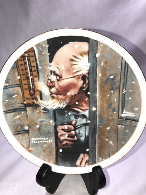 Norman Rockwell IMM Japan Porcelain Collector Plate Old Man Winter 1979 BGB76-73