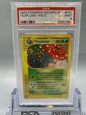 🌱 Vileplume Holo - Pokemon Aquapolis Set - PSA 9 - MINT 🌱