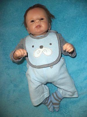 "ASTHON DRAKE BABY BOY VINYL SOFT DOLL BY VIOLET PARKER, 17"" SIZE"