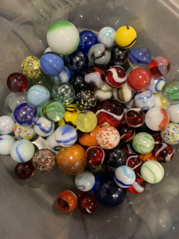 LOT OF 50 ASSORTED MARBLES Assortment