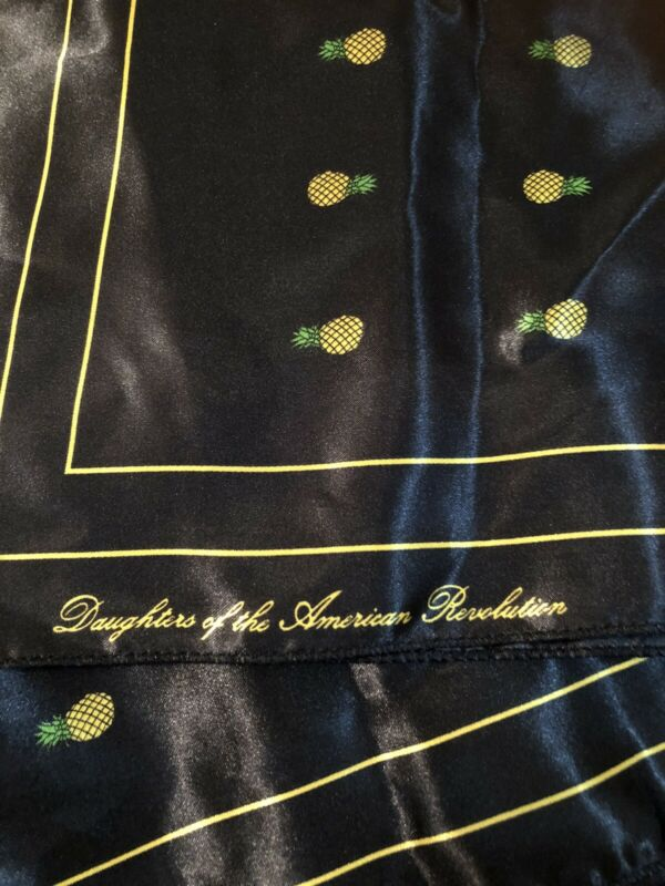 Women's Daughters Of The American Revolution Black Scarf NWT