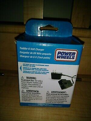 NEW Power Wheels 6-Volt Battery Charger Toddler Blue P6829 6 Volt OEM n