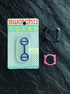 Vintage Original Blue Swatch Watch Guard in Blister Pack NOS + 2 More