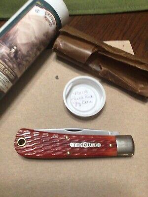 Great Eastern Cutlery knife 431118 Rust Red jig bone
