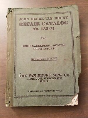 John Deere Van Brunt Repair Catalog 132-m - Vintage - 1940 - 641 Pages