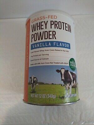 Whole Foods Organic Whey Protein Powder  Vanilla Flavor (12oz) Organic Whey Protein Powder