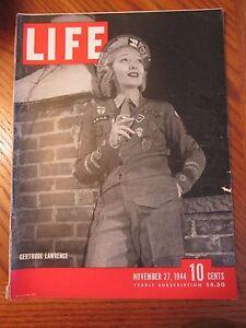 Life Magazine Gertrude Lawrence November 1944