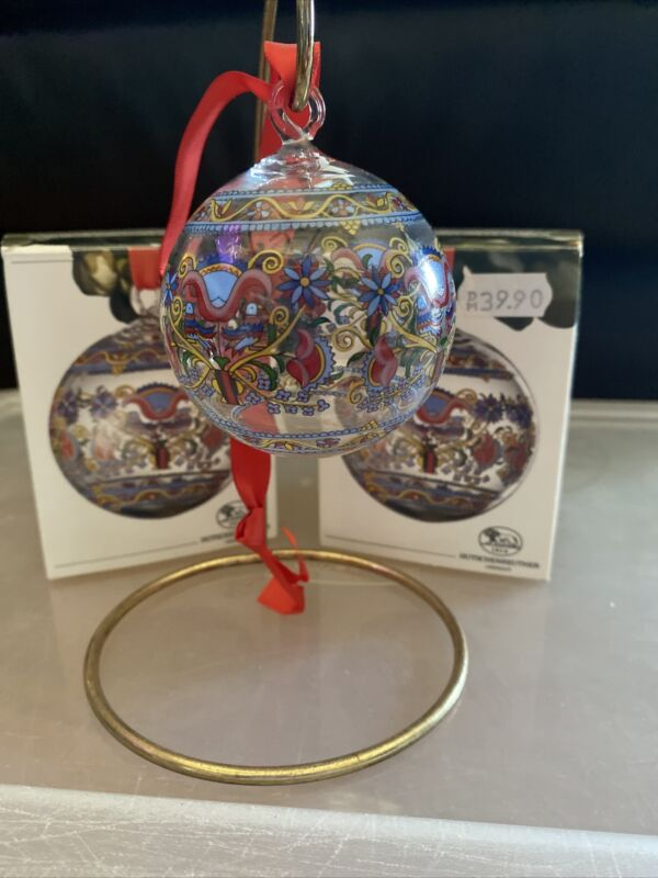 Hutschenreuther CRYSTAL CHRISTMAS BALL ORNAMENT 1999 Netherlands 10252763
