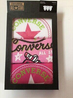 Converse Babykleidung Set Erstausstattung Baby Geschenkset 3 x Body (Converse Baby-kleidung)