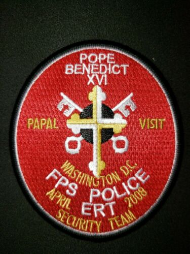 MPD ERT POPE BENEDICT FEDERAL PROTECTIVE SERVICE POLICE PATCH SECURITY TEAM 2008