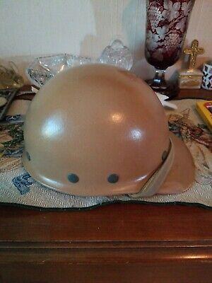 Vintage Superglas Fibre Metal Fiberglass Duck Bill Hard Hat Brown