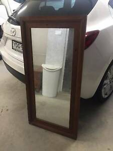 Small Timber Frame Mirror (600x1200) Putney Ryde Area Preview