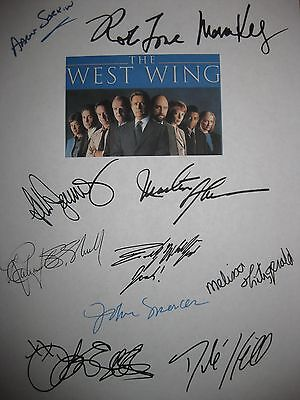West Wing Signed Script X11 Rob Lowe Martin Sheen Allison Janney Aaron Sorkin RP