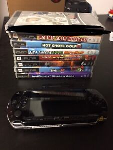 PSP 1001 with 7 games and PSP camera