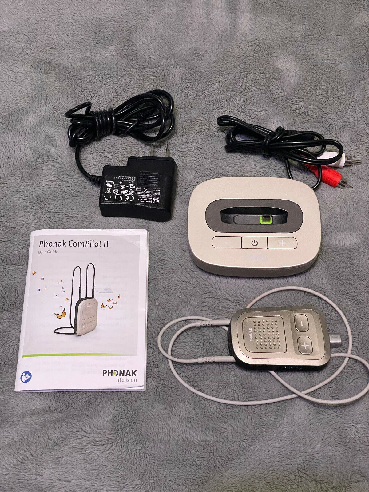 Phonak ComPilot II RemoteMic II TVlink Base II For Sale  - $100.77