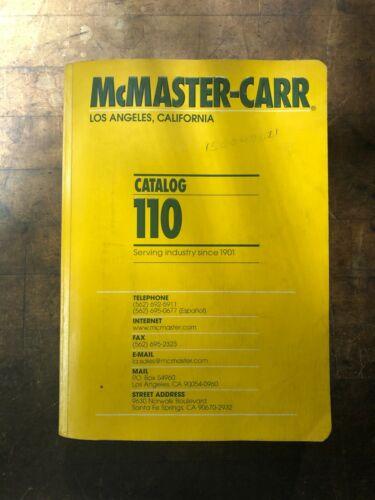 McMaster Carr Catalog 110 Los Angeles