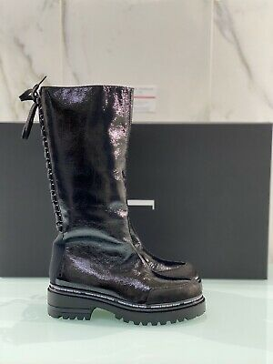 Jeannot Boot Woman Black Leather Paint 70271 Fashion Shoe Jeannot 37