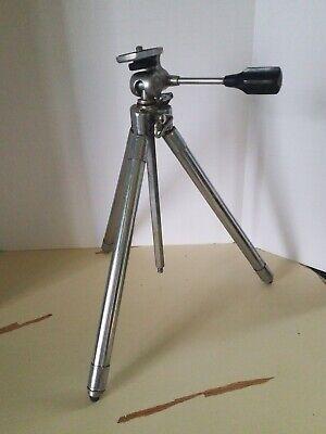 Vintage Prinz Albert Telescoping Camera Tripod - Heavy Steel