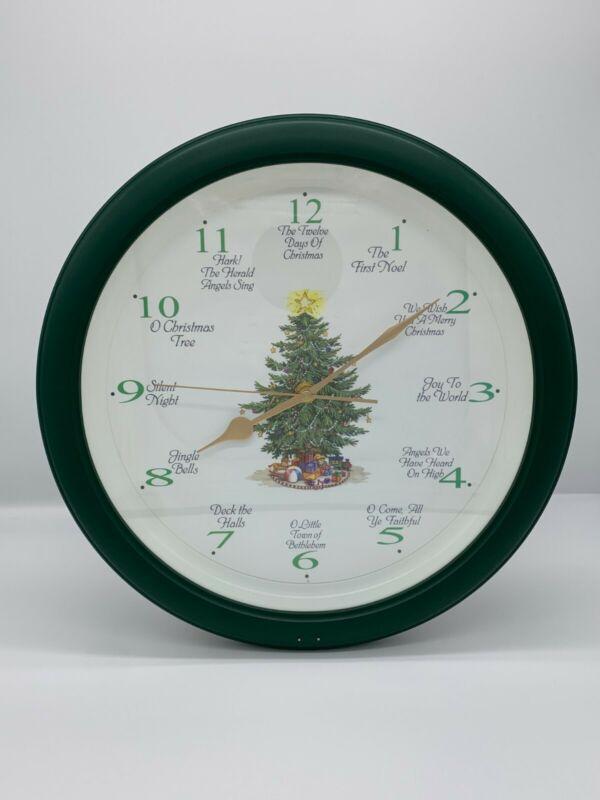 "Musical Christmas Carol Clock 12 Songs Tunes 13"" USED"