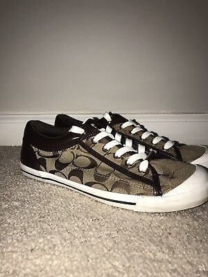 COACH Signature Jacquard Barrett women size 9 tennis shoes