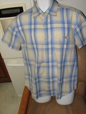1940s Men's Shirts, Sweaters, Vests Nat Nast 1940's shadow print style retro print perfect or unused 2018 vintage $30.00 AT vintagedancer.com