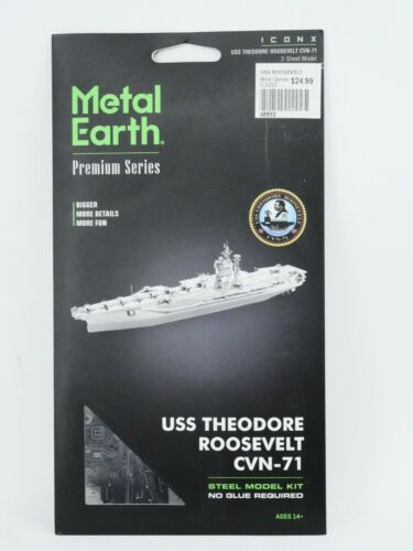 Fascinations USS Theodore Roosevelt CVN-71 3D Metal Earth Model Kit ICX022