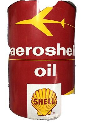Aero Shell Oil Can Quart Metal Full