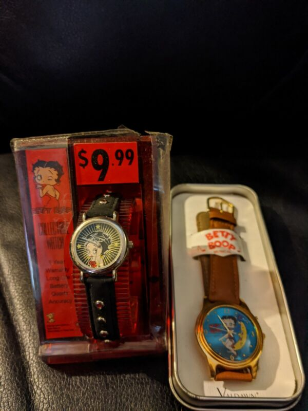 Lot Of 2 Vintage Betty Boop Watches