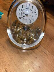 Rhythm Quartz Gold Fairytale Musical Mantel Clock w/ Motion & It's a Small World