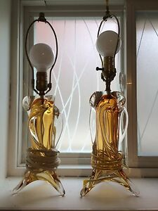 Chalet glass gold lamps SALE