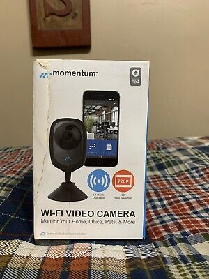 Momentum Wi-fi Video Camera 720p   Works With Nest   Motion And Sound Sensored