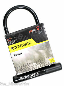 kryptonite keeper 12 standard 8 x 4 bike hardened u lock w mount bicycle std ebay. Black Bedroom Furniture Sets. Home Design Ideas