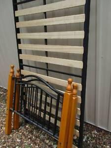 bed slat base and headboard - single